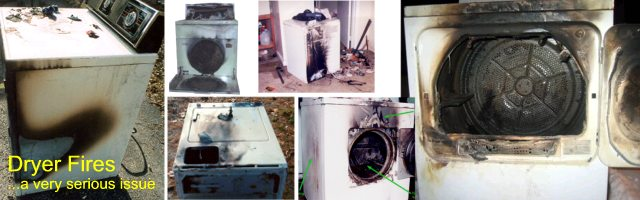 Dryer Fire Information - Lint Buildup and Improper Venting Create a Real Hazard